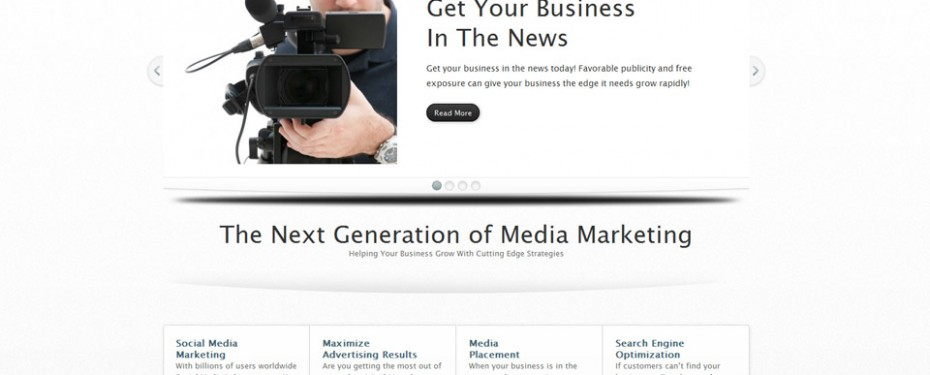 website design for Mediapronow in Troy, Michigan screenshot