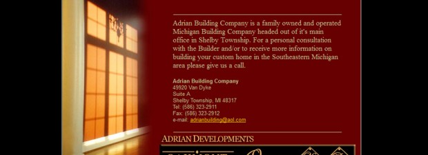 Building company website in Rochester, MI portfolio screenshot