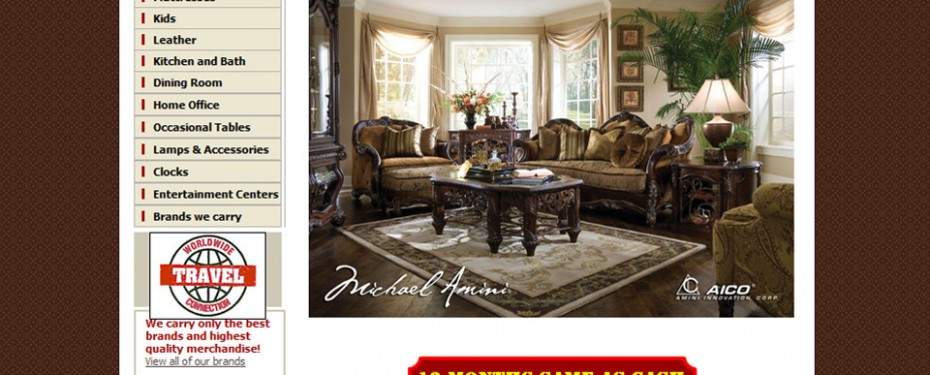 avanti furniture store in Sterling Heights website design portfolio screenshot