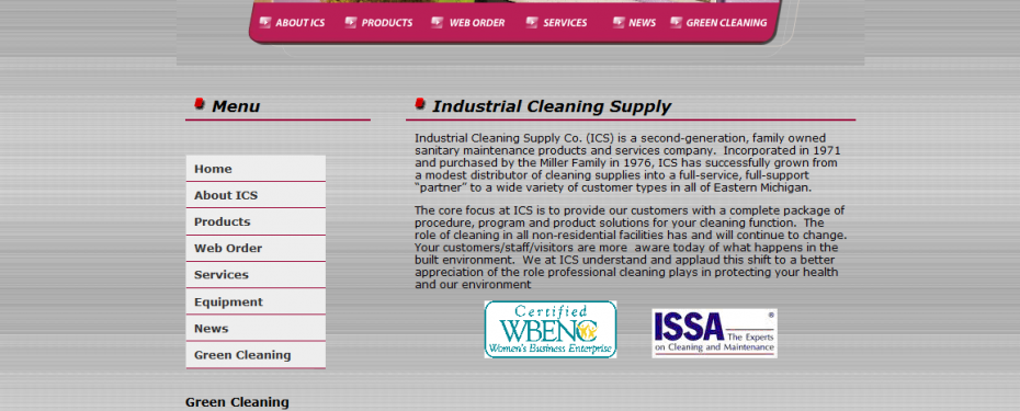 Industrial cleaning supply website in Waterford, MI portfolio screenshot