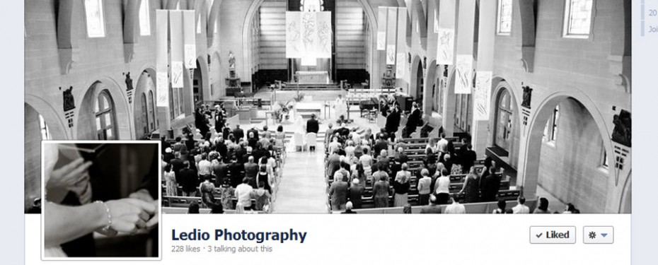 Portfolio screenshot of facebook social media for ledio photography in michigan