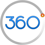Detroit webdesign seo company logo 360 degrees