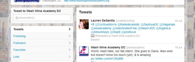 portfolio screenshot for social media twitter management in washington dc