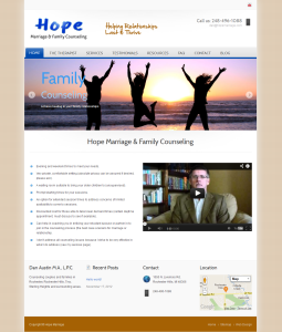 Screenshot for Hope marriage website re-design in Rochester