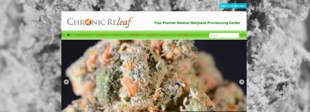 screenshot of website for craw marijuana in detroit