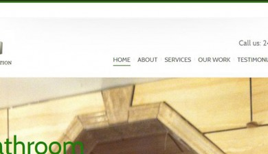 Cropped screenshot of website designed for A.L. Construction in Sterling Heights, MI