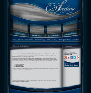 Full screenshot of before website for Sterling Dental dentist office in Sterling Heights, MI