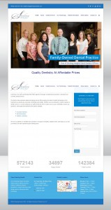 Full screenshot of after website designed for Sterling Dental dentist office in Sterling Heights, MI
