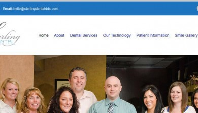Cropped screenshot of after website designed for Sterling Dental dentist office in Sterling Heights, MI