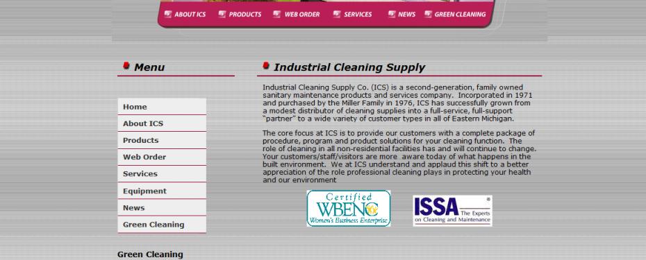 Industrial cleaning supply website in Waterford, MI portfolio screenshot